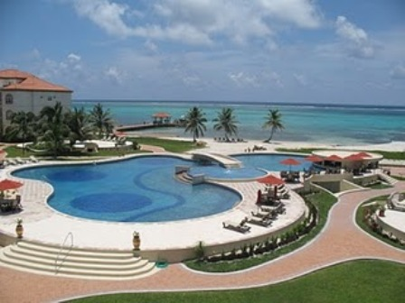 largest pool in belize at grand caribe resort