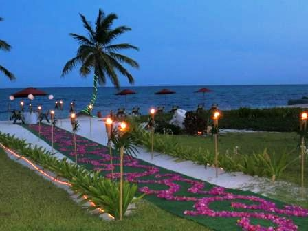 romantic valentine's dinner at grand caribe belize