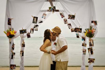 beach wedding in belize