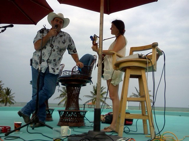 Cowboy Doug singing a boy named Sue at grand caribe resort