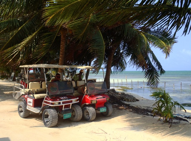 golf cart taxi caye caulker belize