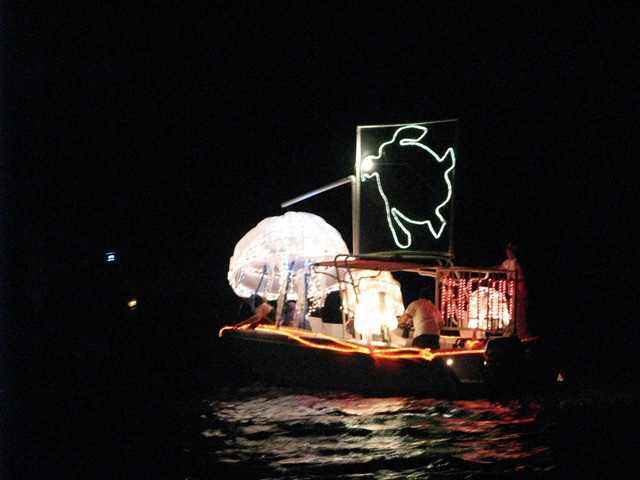 san pedro belize lighted boat parade