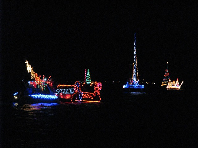 lighted boat parade san pedro belize