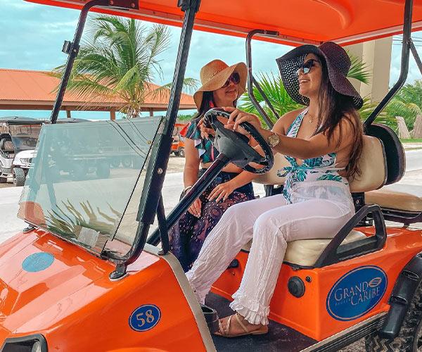 Ambergris Caye Resort - gold cart