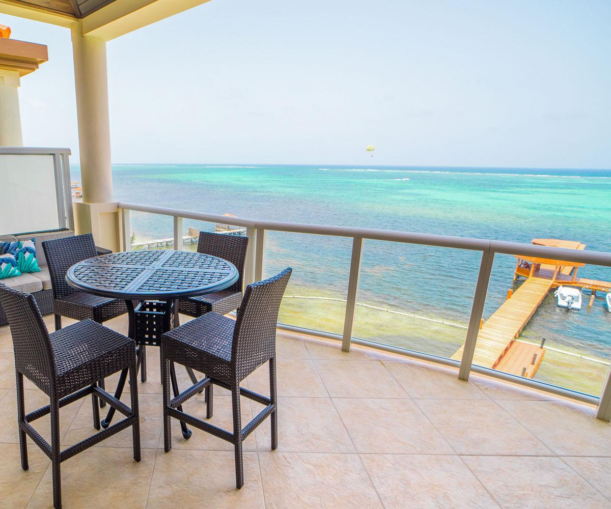 Ambergris Caye Belize 2 Bedroom Oceanfront Penthouse Views