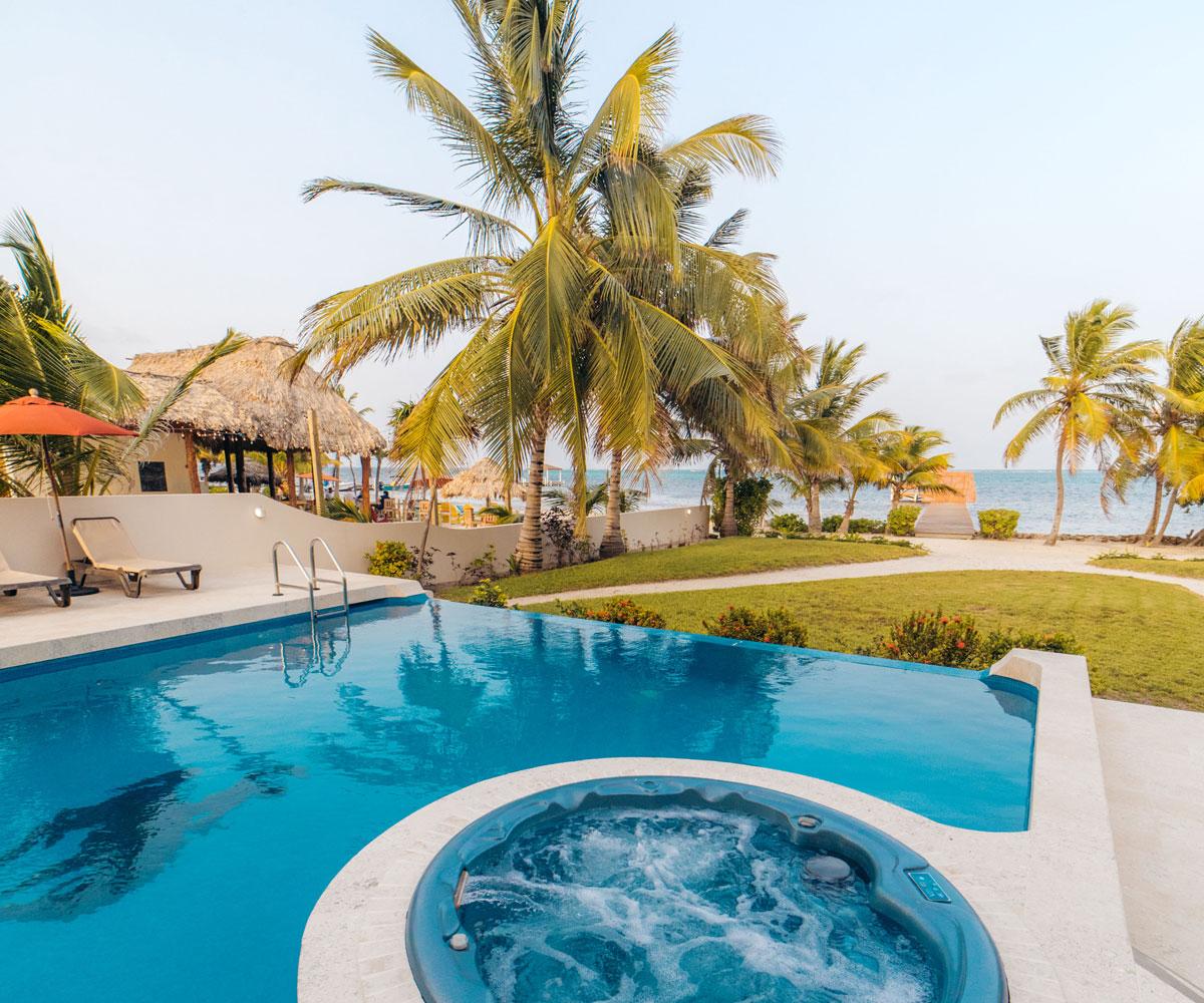 Ambergris Caye Belize 5 Bedroom Beachfront Villa Pool