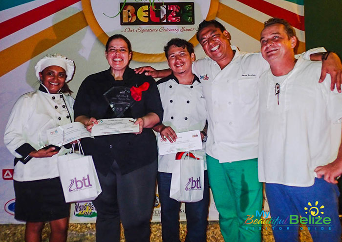 Winners of Master Chef Competition Taste of Belize 2016