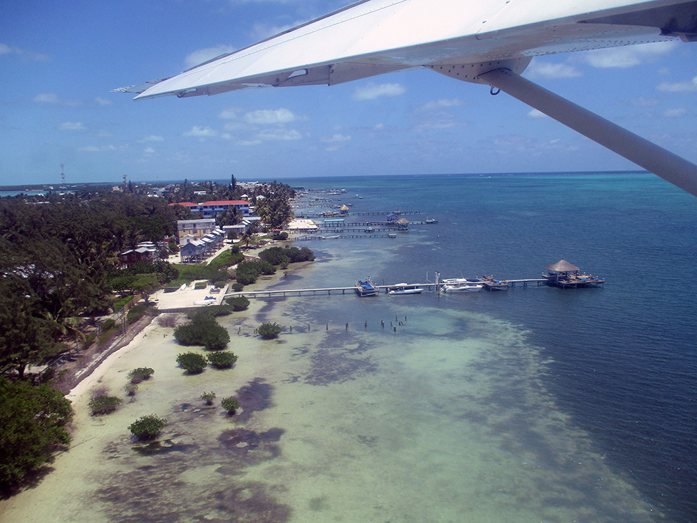 Over Caye Caulker, Belize