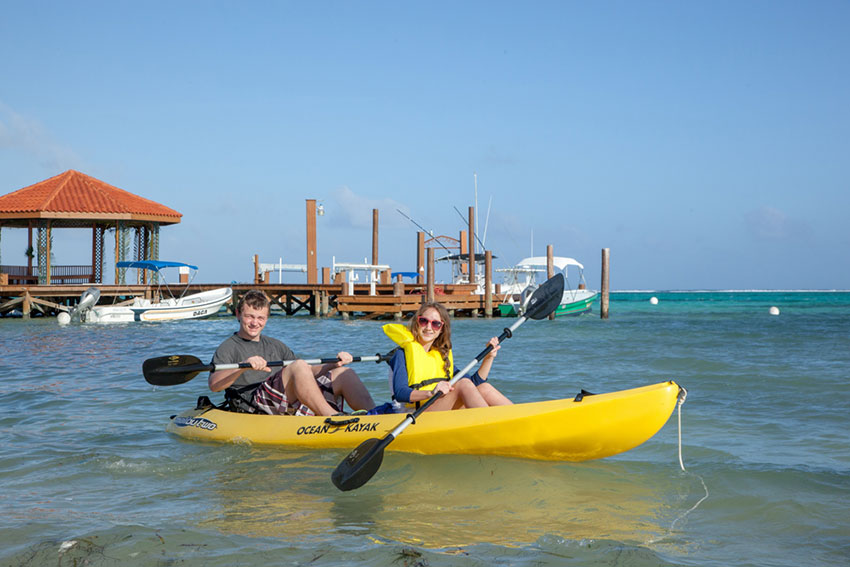 Kayaking at Grand Caribe