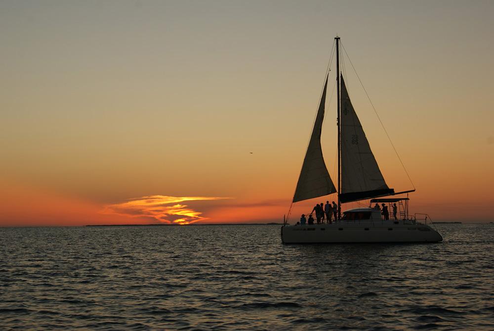 Sailing in Caye Caulker
