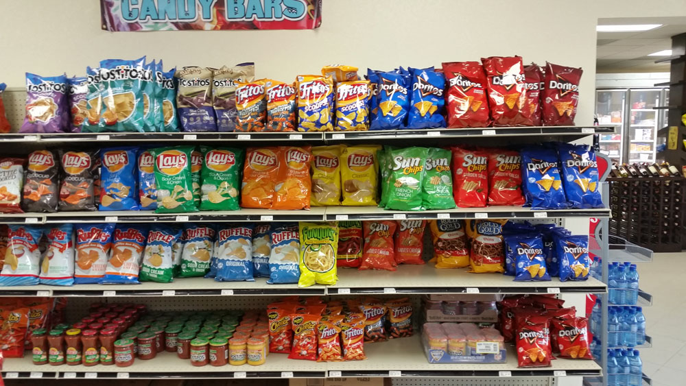 Snacks Selection at Beach Basket
