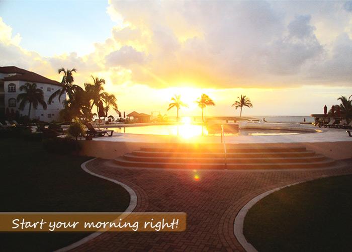 Grand Caribe Sunrise view