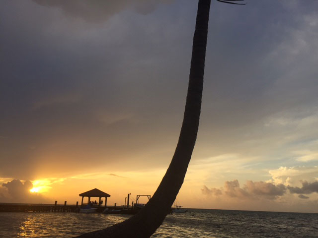 Sunset Ambergris Caye