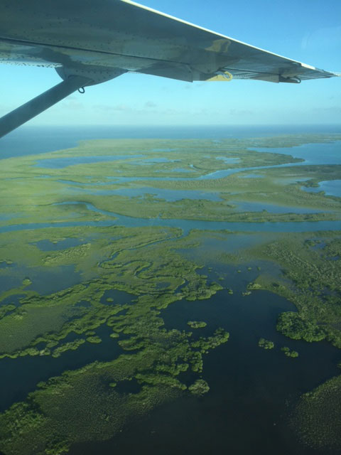 View form plane heading to Ambergris Caye
