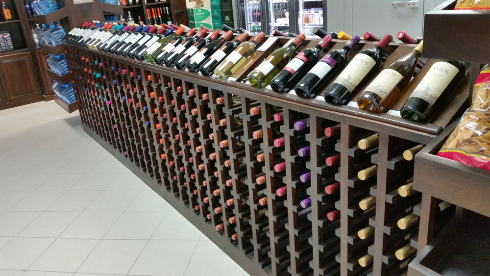 Wine selection at Beach Basket