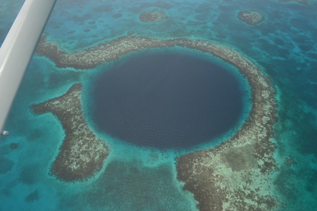 A charter flight over the gorgeous sinkhole and Belize's most famous dive site.