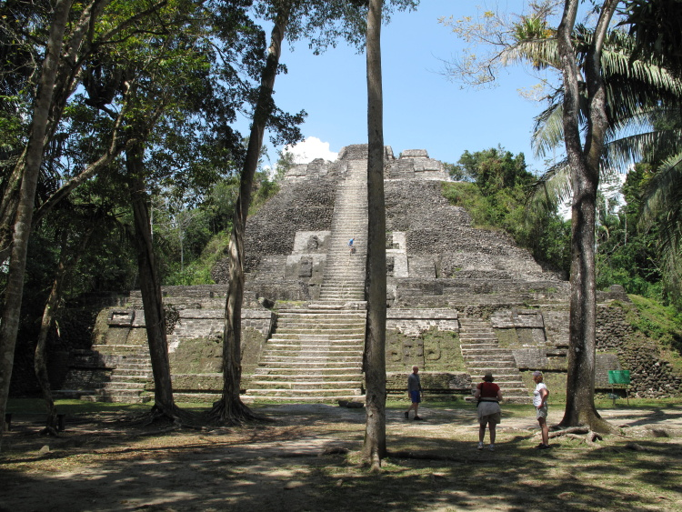 Belize is literally covered in Maya sites - this is the beautiful Lamanai